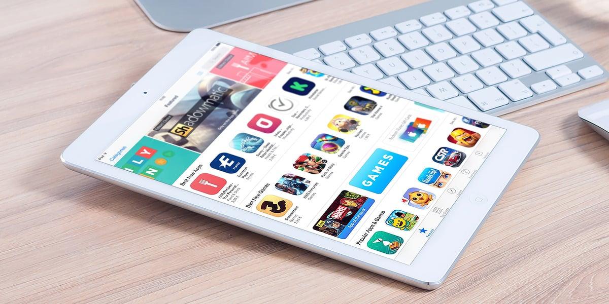 iPad med Apple store